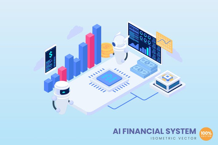 Ai Financial Systems Concept Illustration
