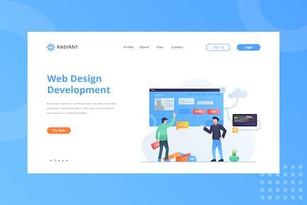 Page d'accueil Développement de Web Design
