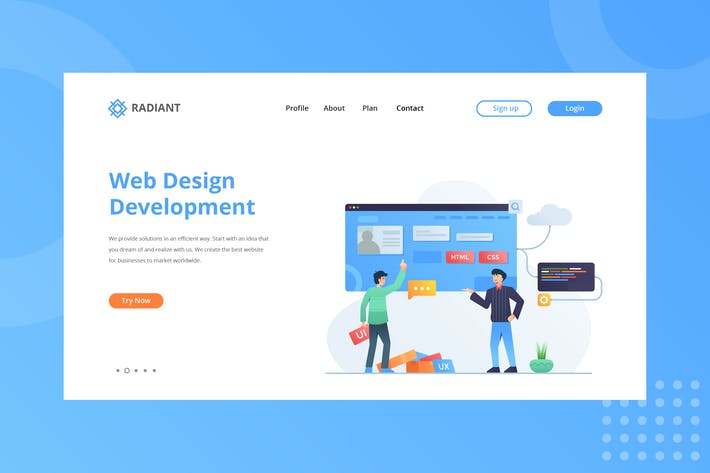 Thumbnail for Web Design Development Landing Page
