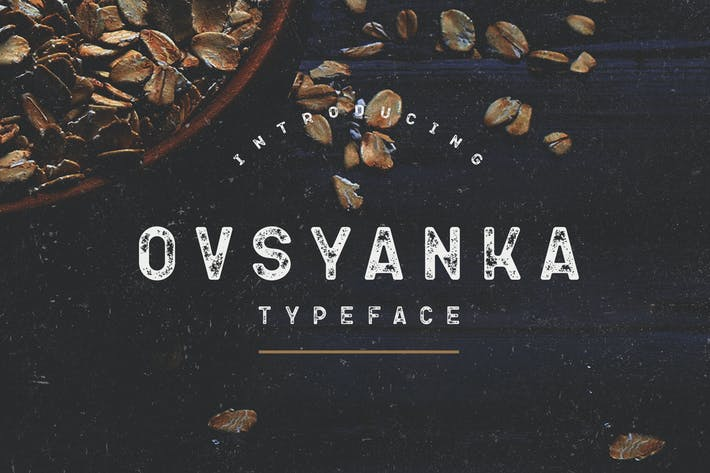 Thumbnail for Ovsyanka Typeface
