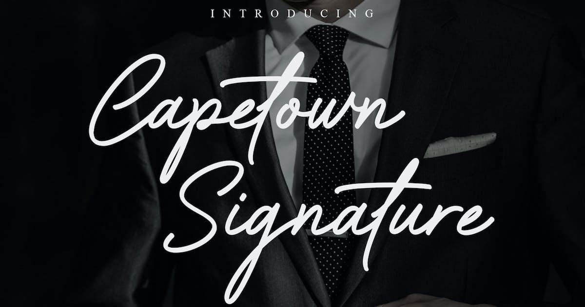 Download Capetown Signature Font by mjbletters