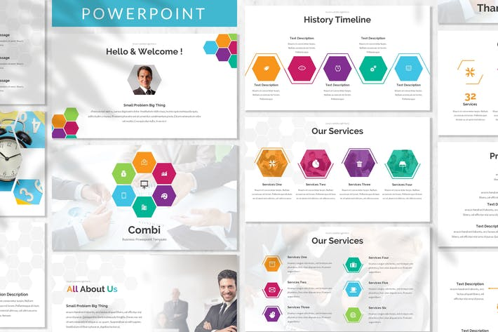 Thumbnail for Combi - Business Powerpoint Template