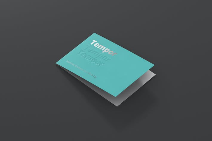 Cover Image For Folded Business Card Mockup
