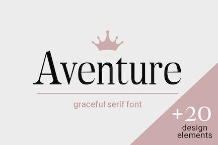 Aventure| graceful serif font