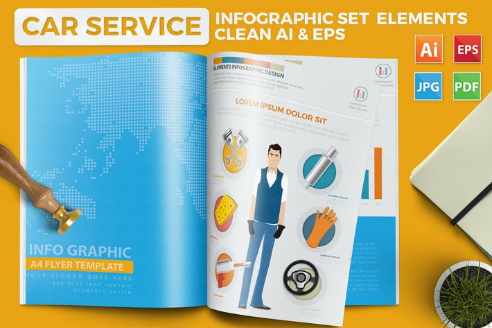 Cover Image For Car Service Infographics Design