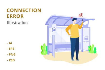 Connection Error Illustration