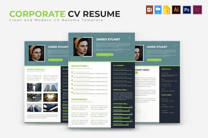 Thumbnail for Corporate | CV & Resume