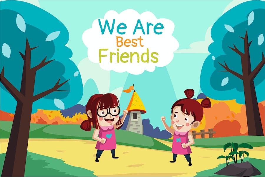 Best Friends - Illustration