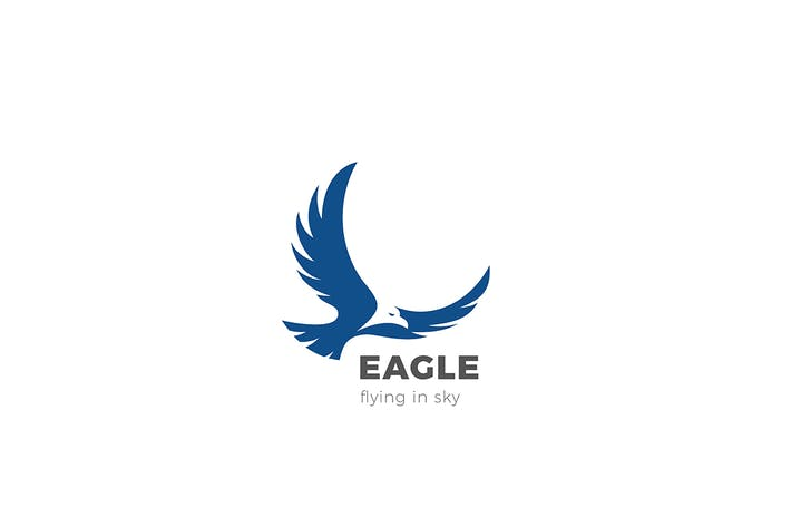 Thumbnail for Eagle Bird Flying Logo abstract