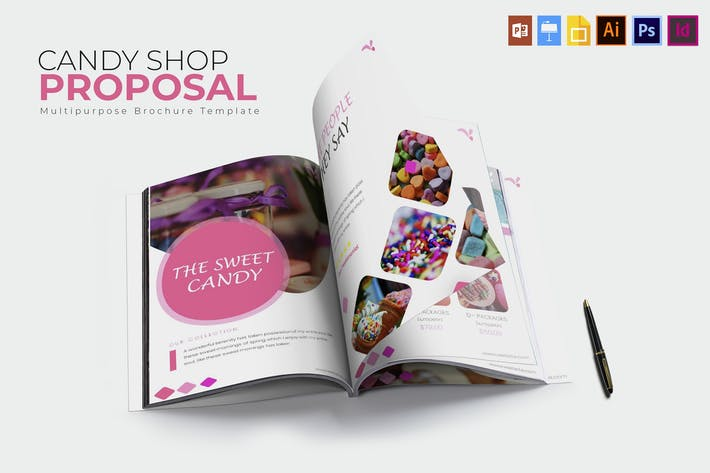 Thumbnail for Candy Shop | Brochure  Template