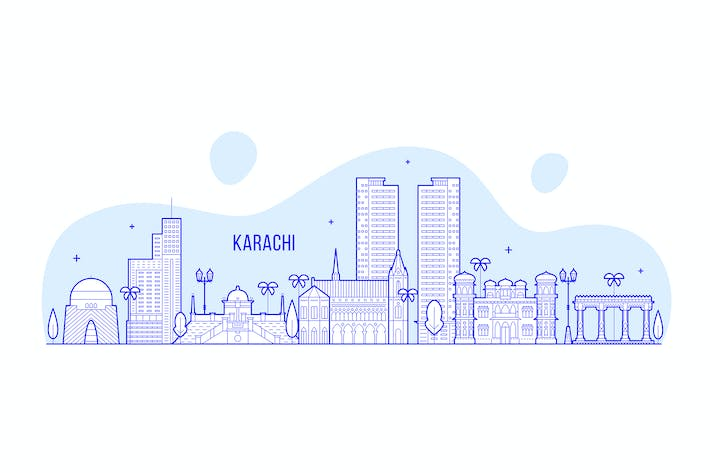 Thumbnail for Karachi skyline, Pakistan