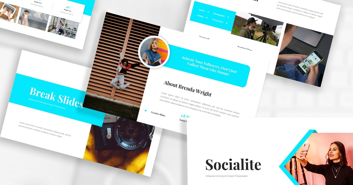 Download Influencer & Content Creator Keynote Template by StringLabs
