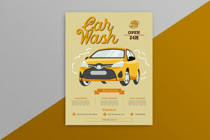 Thumbnail for Car Wash Flyer 4