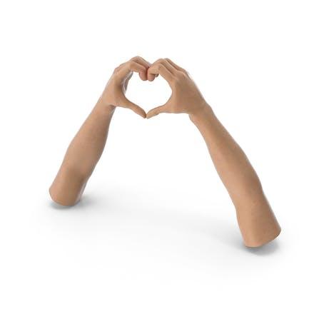 Manos en forma de corazón