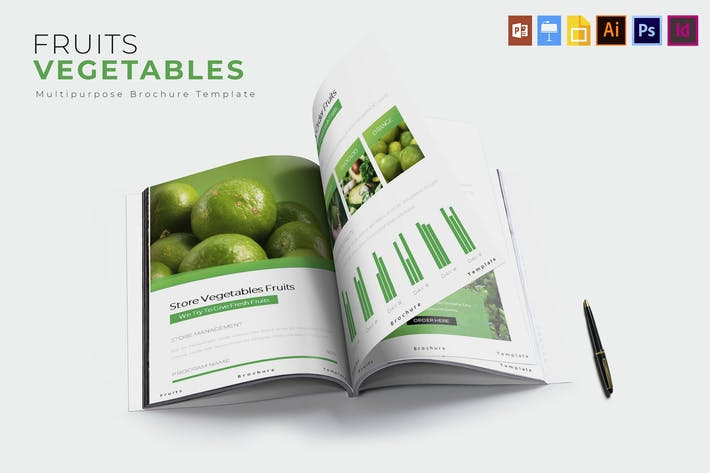 Thumbnail for Légumes Fruits | Modèle de brochure