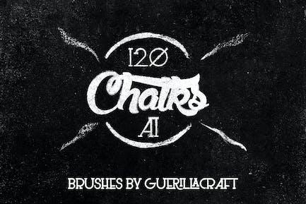 Megapack of Chalks for Adobe Illustrator