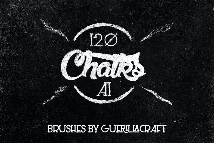Thumbnail for Megapack of Chalks for Adobe Illustrator