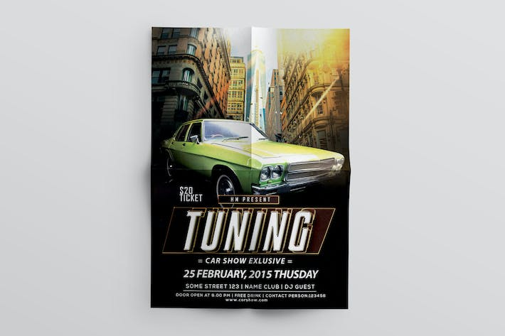 Thumbnail for Car Tuning flyer template