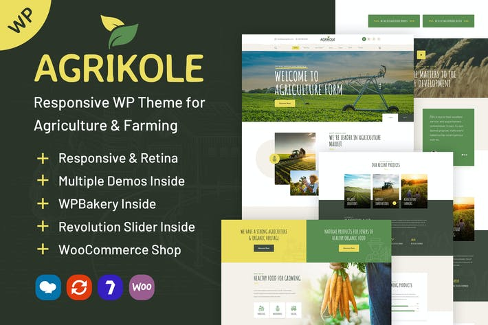 Thumbnail for Agrikole | WordPress Theme for Agriculture Farms