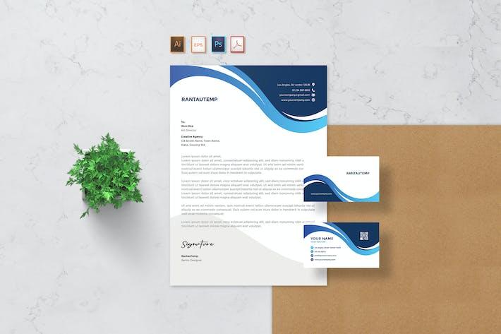 Thumbnail for Rantautemp - Letterhead & Business Card
