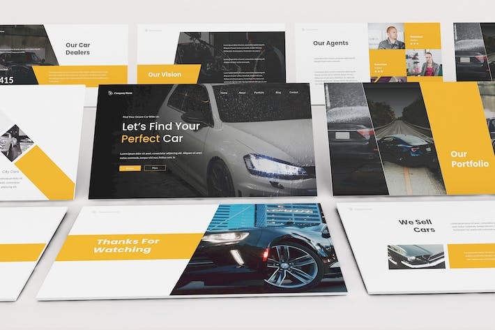 Thumbnail for Car Dealership Google Slides Template