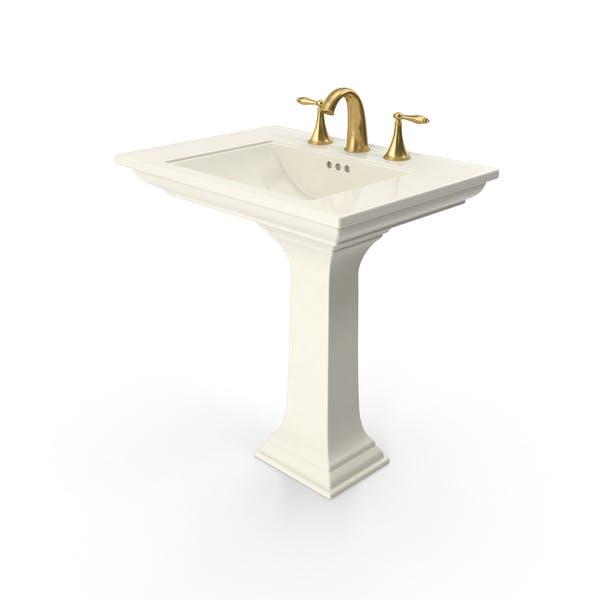 Классическая раковина для ванной комнаты