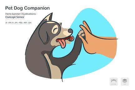 Pet Dog Vector Illustration