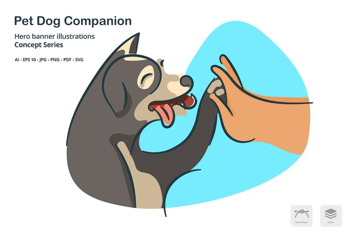 Thumbnail for Pet Dog Vector Illustration