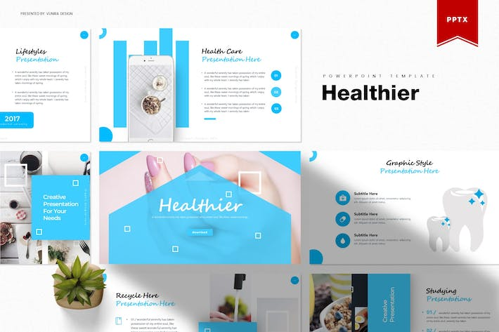 Thumbnail for Healthier | Powerpoint Template