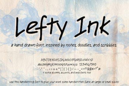 Lefty Ink Handwriting Font (Handwritten type)
