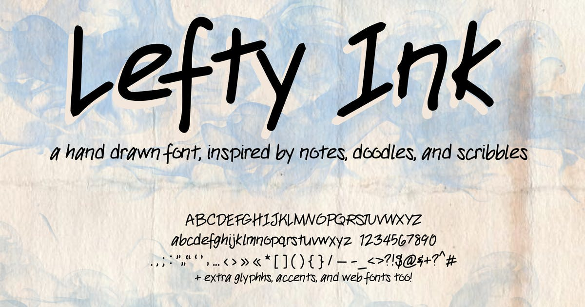 Download Lefty Ink Handwriting Font (Handwritten type) by SunshineFonts