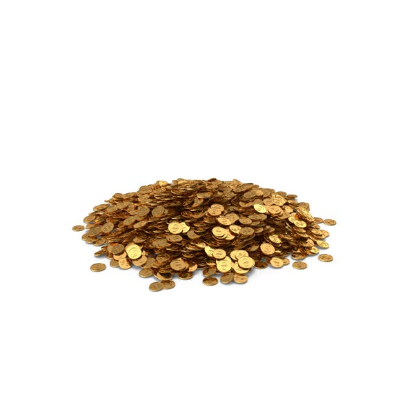 Pile of Gold Coins Dollar