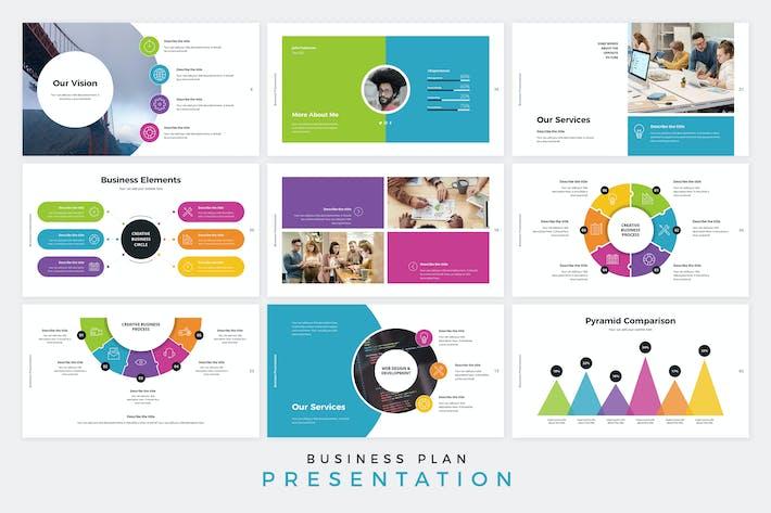 Thumbnail for Biz Plan Presentation Google Slides Template