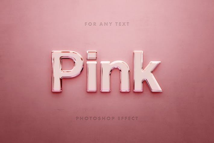 Розовый стеклянный 3D текстовый эффект
