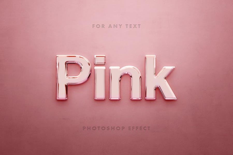 Pink Glass 3D Text Effect