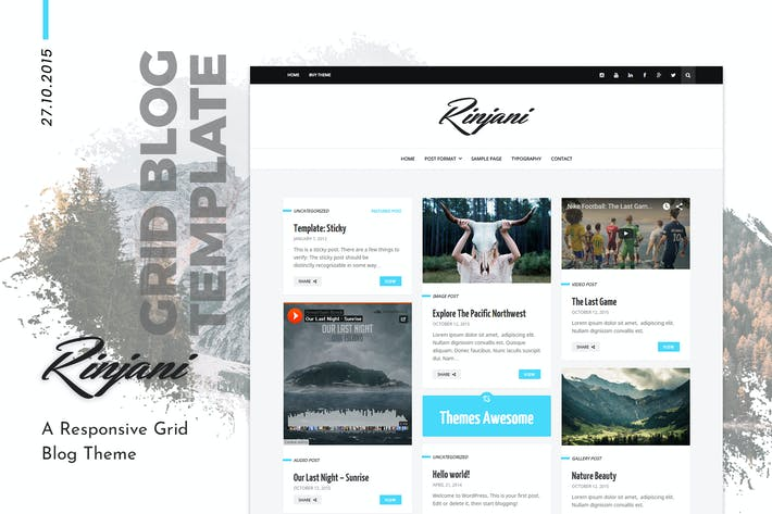 Thumbnail for Rinjani | Personal Grid Blog WordPress Theme