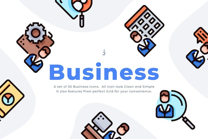 Thumbnail for 30 Business Icon set