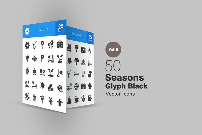 Thumbnail for 50 Seasons Glyph Icons