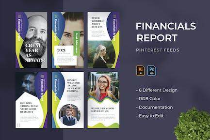 Financials Report | Pinterest Post Template