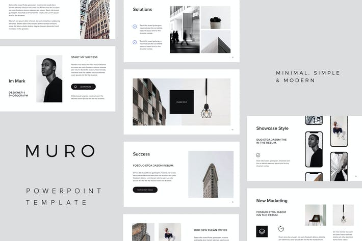 Cover Image For MURO - Powerpoint Minimal Template