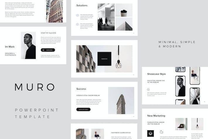 Thumbnail for MURO - Минимальный Шаблон Powerpoint