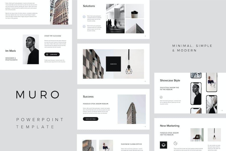MURO - Минимальный Шаблон Powerpoint