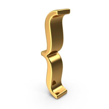 Gold Open Brace Symbol