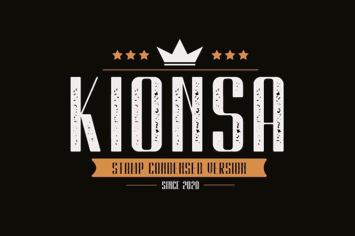 Thumbnail for Kionsa Stamp - Vintage Display font