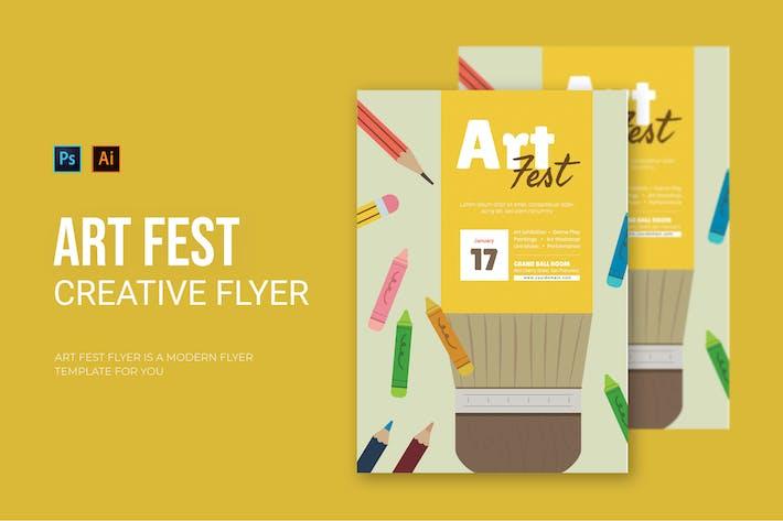 Thumbnail for Art Fest - Flyer