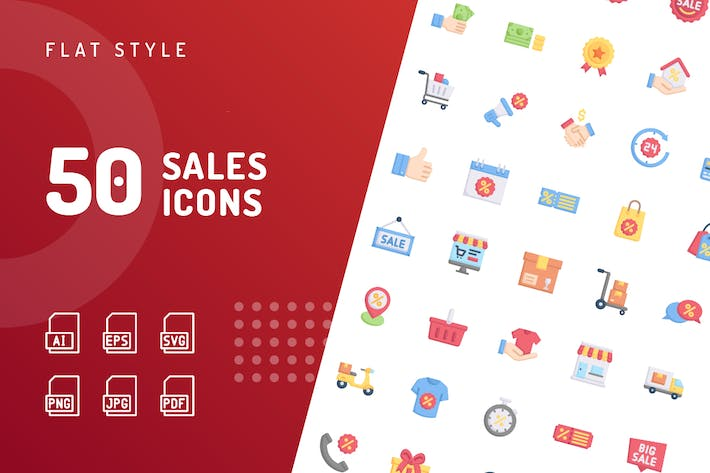 Thumbnail for Sales Flat Icons