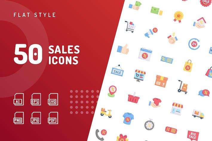 Thumbnail for Verkaufs-Flache Icons