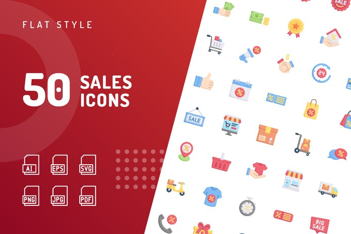 Sales Flat Icons