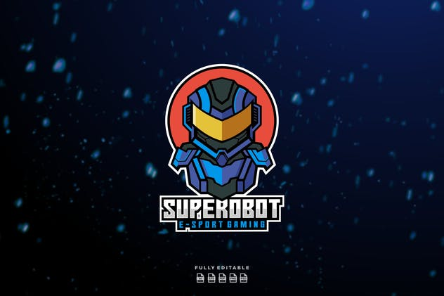 Super Robot E-sport Gaming Logo