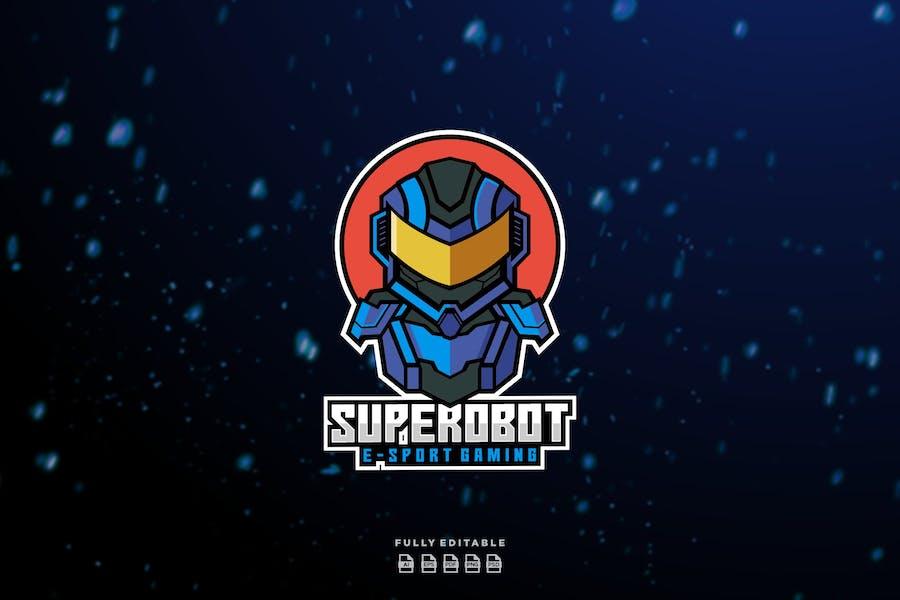 Super Robot E-sport Gaming Logo